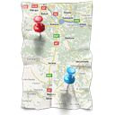 directions gps location map navigation icon